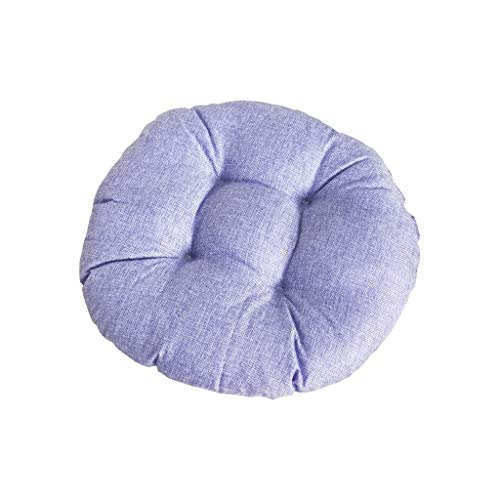 jieGorge Round Cotton And linen Style Cushion Round Meditation Chair Cushion 40 * 40cm, Pillow Case, for Christmas Day (I)