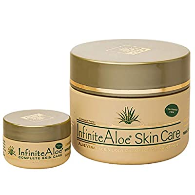 InfiniteAloe Skin Care Moisturizer - Cream for Dry Skin Moisturizing, Oily Balancing and Combination Skin Moisture - Face + Body Skincare for Men, Women, Teens and Baby - Aloe Vera, Collagen and Peptide Moisturizer for Eczema, Itchy Skin Moisturizing and