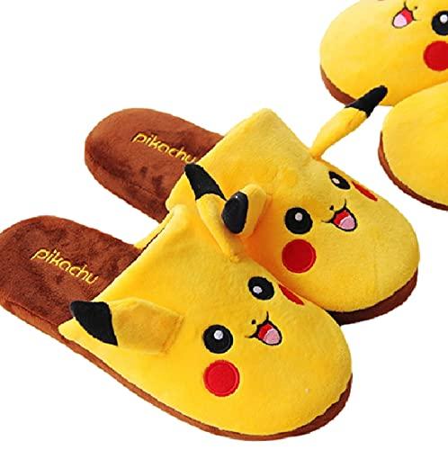 agzhu Pokemon Kawaii Pikachu Plüsch Hausschuhe 28Cm Indoor Warm Winter Erwachsene Schuhe Cartoon Anime Für Kinder Mädchen