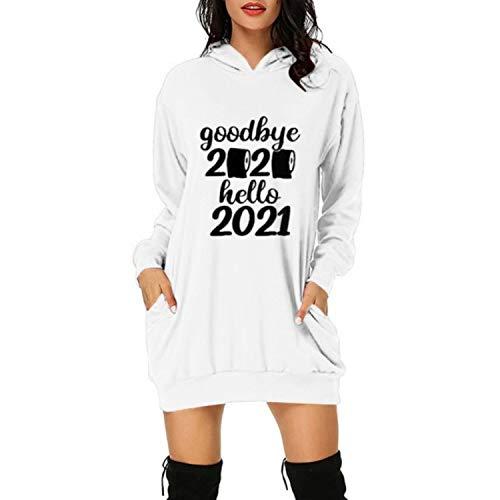 Woman Dress Fashion 2021 Printed Hoodie Bag Hip Pocket Print Hoodie Fashion Dress Vestido De Mujer
