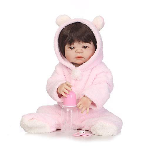HWZZ 57 cm Handgefertigte Puppe Wiedergeborenes Silikon Realistisches Knochenbaby, Geeignet Für Kindergeschenkspielzeug, Wasserdicht Und Badend,57cm