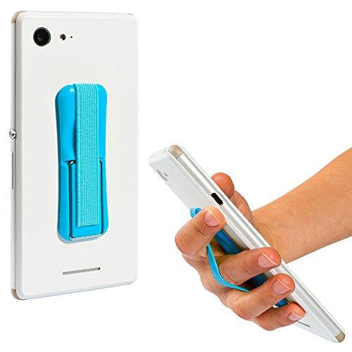 ECENCE Handy Finger-Halter Finger-Griff Selfie Ständer Handy Halterung Blau 12030501