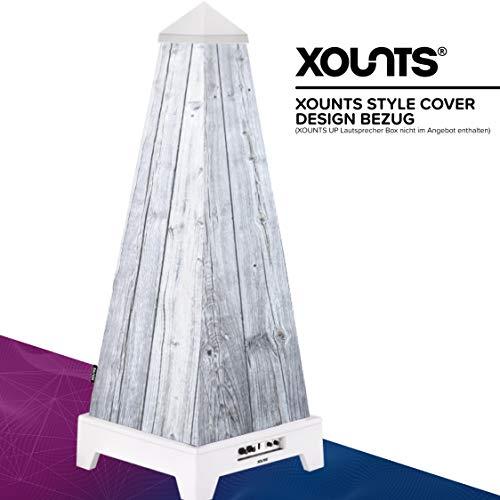 XOUNTS Style Cover 'Wood' – Premium Flies-Cover für XOUNTS UP Musikanlage – Design-Cover im schlichten Holzdesign für eine natürliche Atmosphäre – Als Zubehör für XOUNTS UP Lautsprecher