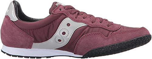 Saucony Originals womens Bullet Sneaker, Burgundy, 7.5 M US