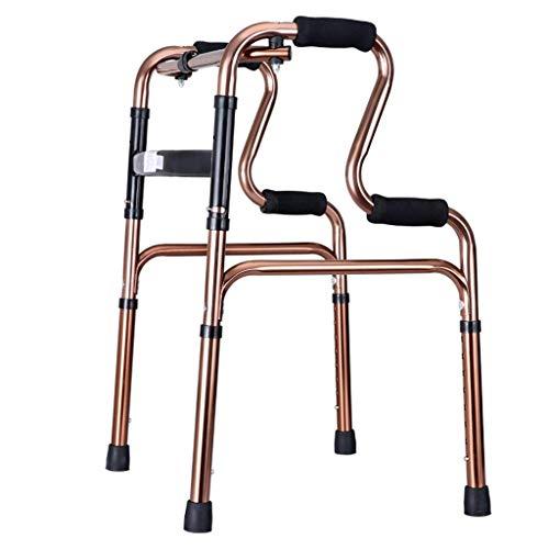 FMOGE Gehhilfe, leichte 2,2 kg Faltbare Rollator-Gehhilfe ohne Rad Vierbeiniger Gehstock Stehender Toilettenrahmen für Erwachsene Senioren Behinderte |Einstellbare Höhe 70-78cm,Krücken