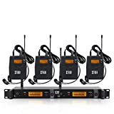 IEM1200 Wireless in Ear Monitor System 2 Channel 2/4 Bodypack Monitoring with in Earphone Wireless...