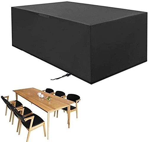 DYB Cubiertas de Muebles de jardín Conjuntos de Patio de jardín Resistencia al desgarro de Tela Oxford Recubrimiento de PU Anti-decoloración Impermeable Negro -135x80x110cm