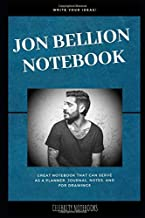 Jon Bellion Notebook: Great Notebook for School or as a Diary, Lined With More than 100 Pages.  Notebook that can serve as a Planner, Journal, Notes and for Drawings. (Jon Bellion Notebooks)
