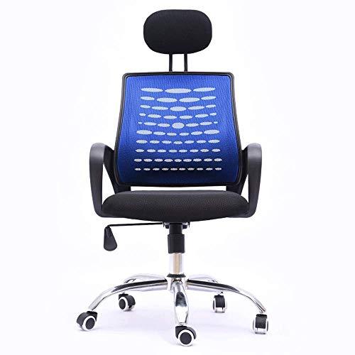 JPL Sillas de escritorio, silla ergonómica de oficina con soporte lumbar y ruedas giratorias Apoyacabezas ajustables Respaldo alto Malla transpirable Cojín de asiento grueso