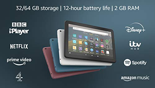 All-New Fire HD 8 Tablet, 8 HD display, 32 GB, Twilight Blue with Special Offers, designed for portable entertainment