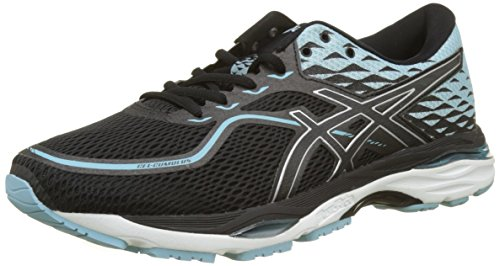 Asics Gel-Cumulus 19, Zapatillas de Running para Mujer, Negro (Black/Porcelain Blue/White 9014), 44.5 EU