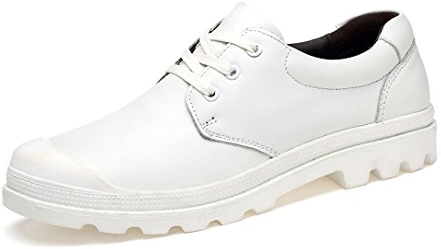 LOVDRAM Men'S shoes Spring And Autumn Casual Business shoes With Comfortable Top Layer Leather shoes Handmade Large Size Men'S shoes
