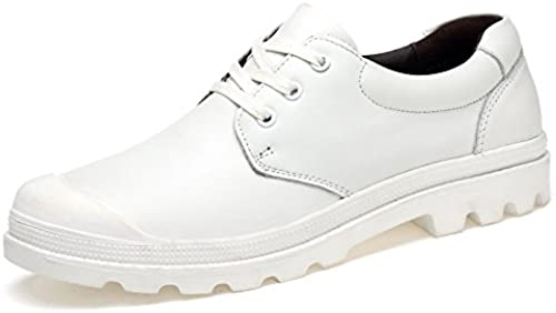LOVDRAM Hommes's chaussures Spring and Autumn Décontracté Affaires chaussures with with with Comfortable Top Layer Leather chaussures Handmade Large Taille Hommes's chaussures d3c