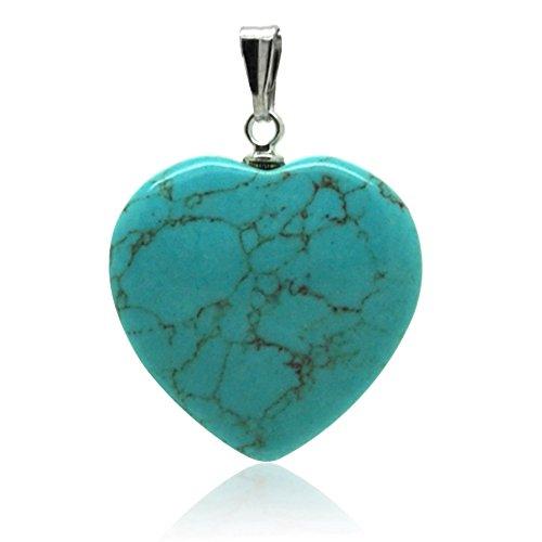 Steine Anhänger Mineralien Herz – Türkis Muttertag für Mutter