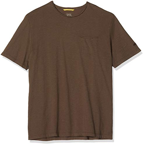 camel active Herren H 1/2 Arm T-Shirt, Braun (Dark Brown 28), Medium (Herstellergröße: M)