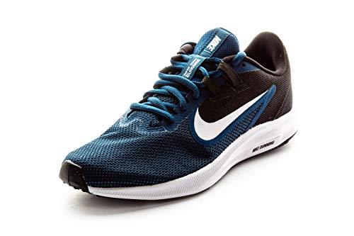 Nike Downshifter 9, Zapatilla De Correr Mujer, Valerian Blue/White/Black/Vivid Purple, 37.5 EU