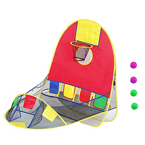 Moligh doll Portable Ball Tent Kid Foldable Playing Tent Goal Basketball Hoop Tent Indoor Outdoor Large Space Sports Arcade Playhouse