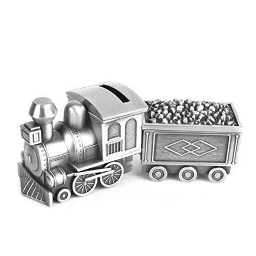 YAOLUU Huchas Originales Tire Tren del carbón Caja de Dinero del Tanque de Almacenamiento con joyería Caja de la Personalidad Creativa Regalos Divertidos