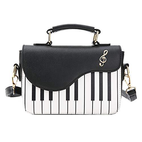 LUI SUI Women's Piano Guitar Shape Crossbody Purse Bags Round Circle Tassel Small Shoulder Bags Tote Purse