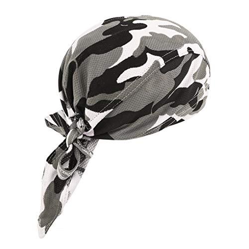Afinder Unisex Modische Bandana Cap UV Schut Kopftuch Kopfband Biker Hat Piratentuch Kopftücher Halstuch Schlauchtuch Biketuchz Stirnband für Biking Fahrrad Motorrad Radsport