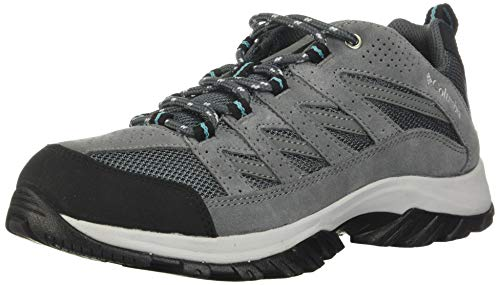 Columbia womens Crestwood Hiking Shoe, Graphite/Pacific Rim, 7.5 US