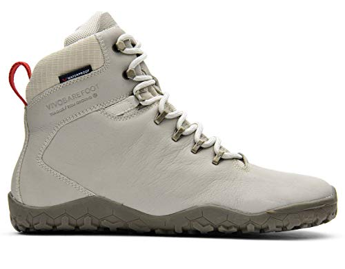 vivobarefoot Tracker FG, Mens Leather Waterproof Hiking Boot with Barefoot Firm Ground Sole And Thermal Protection