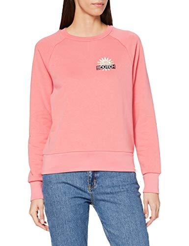 Scotch & Soda Maison Womens Baumwollmischung mit Logo-Artwork Sweatshirt, 3930 Pink Smoothie, XL