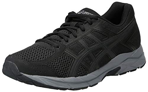 ASICS Men's Gel-Contend 4 Running Shoes, Black (Black/Dark Grey 002), 8.5 UK