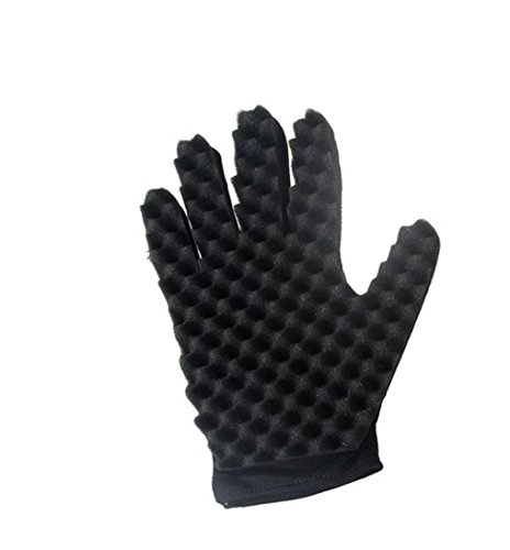 Tpingfe Fashion Curls Coil Magic Tool Wave Barber Hair Brush Sponge Gloves, 1 Pieza, Derecha