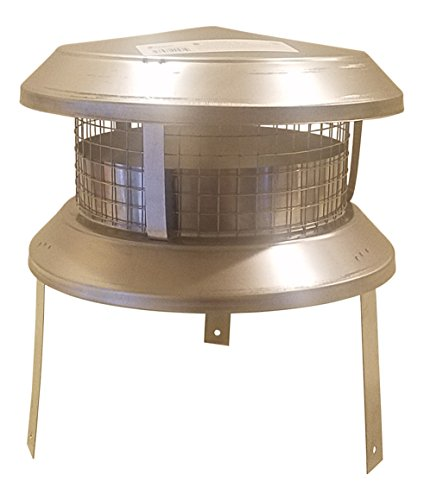 "Shasta Vent 8"" Dia. I.D.  Class A, All Fuel, SS ""Universal Chimney Cap"" for all major brands of 8"" Chimneys"