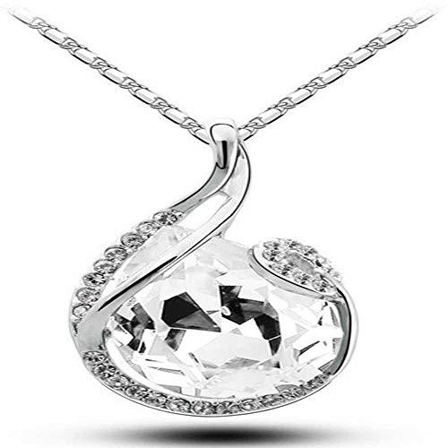 Precioso Regalo de promoción de Calidad Caliente Popular de Cristal Austriaco Gota de lágrima de Agua Colgante de diseño Collar de joyería de Moda