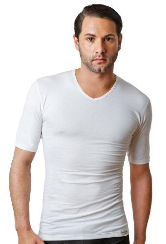 Schaufenberger Unterhemd, Herrenunterhemd Business V-Neck, Weiß, Größe S