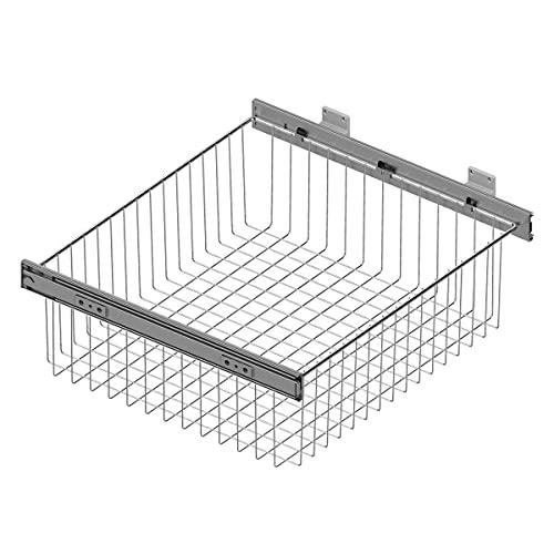 Cesto extraíble de rejilla metálica para mueble de cocina - Ancho 312-318 mm