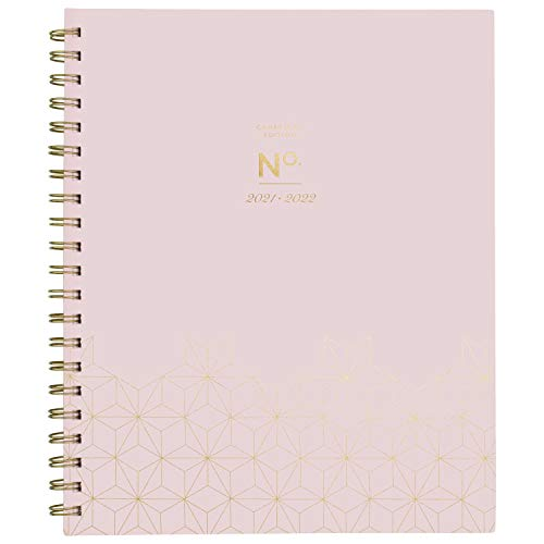 Academic Planner 2021-2022, Cambridge Weekly & Monthly Planner, 8 1/2' x 11', Large, for School, Teacher, Student, WorkStyle, Pink Geo (1557P-905A)