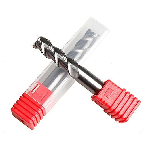 XYXXBB Molino de Extremo de desbaste para Aluminio HRC55 3 Flautas Cortador de fresado de carburo Herramientas de Corte de Aluminio 4 mm 6 mm 8 mm 12 mm Corte áspero (Dimensions : 5x13x6x50L)