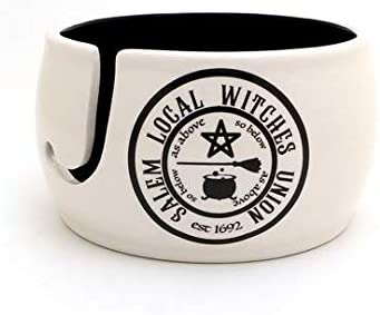 Salem Witches Yarn Bowl Knitting and Crochet Halloween Lennymud by Lorrie Veasey product image