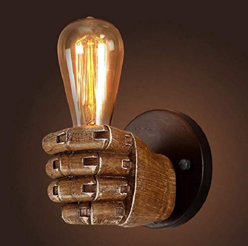 YNXing Lámpara de pared con diseño de puño antiguo, estilo vintage, industrial,...