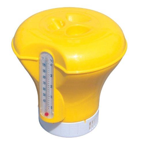 Bestway Dosierschwimmer 18,5 cm mit Thermometer (Gelb)