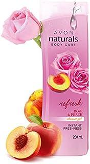 AVON NATURALS BODY CARE REFRESH ROSE & PEACH SHOWER GEL