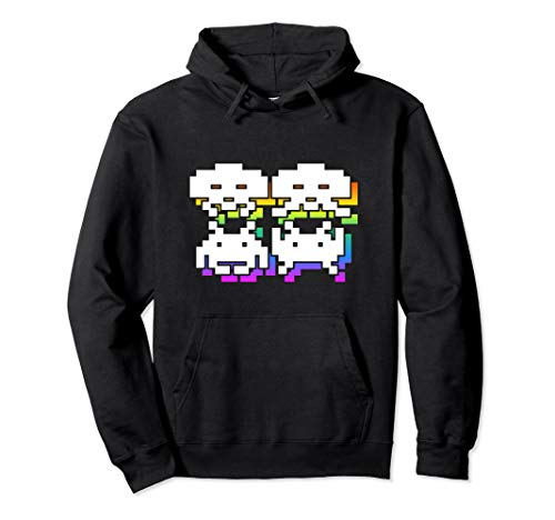 Adult Unisex 3D Space Invaders Pullover Hoodie, 5 Colors, S to 2XL