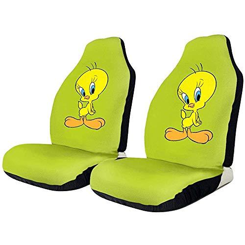 Polyester Universal Fit Autositzbezug mit Aufbewahrungstasche Passend für die meisten PKW/LKW/SUV/Van Tweety Bird