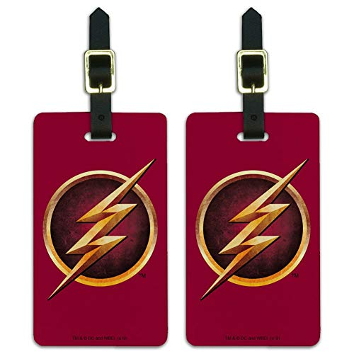 The Flash TV Series Logo Luggage ID Tags Suitcase Carry-On Cards - Set of 2