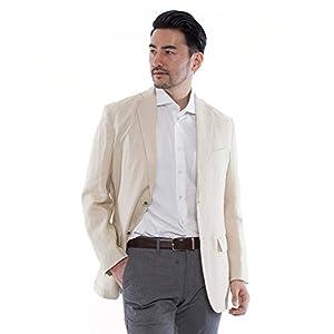 (ドムアオム) D'HOMME A HOMME 麻 100% テーラードジャケット サマージャケット メンズ 春 夏 アイボリー/LL