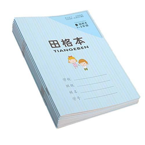 Libro de ejercicios de hanzi chino, para niños y bebés, cuadrícula china, libro de caracteres para niños