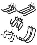 POETISKE Pegboard Set Hooks Hangers 10pc Firearm Drill Cord Holder Fits for 1/4 Peg Board Hanging...