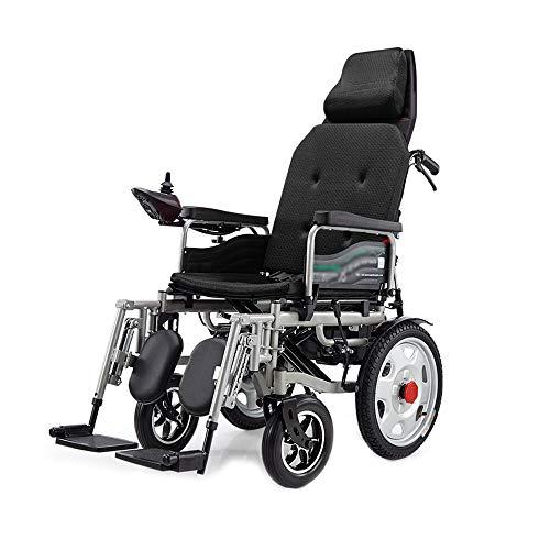 XINGZHE Rollstuhl, faltender intelligenter behinderter älterer Vierrad Pflege-Rollstuhl, kann flach...