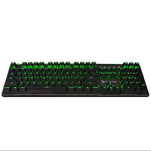 Metal Machinery 104 Gaming-toetsenbord, blauwe as, mechanisch toetsenbord, notebook, spel, tafel, uitrusting, kantoor, familie, gaming-toetsenbord, kleur: groen blauw