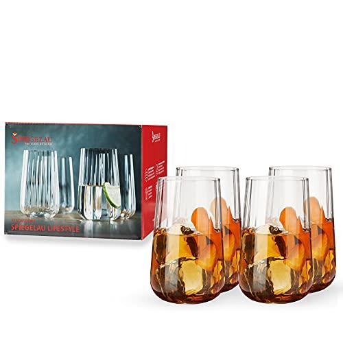 Spiegelau & Nachtmann, Spiegelau LifeStyle 4450179 Lot de 4 verres à long drink en cristal 510 ml