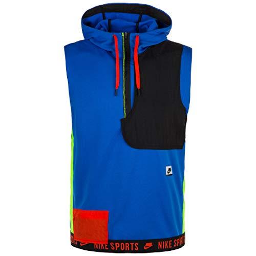 Nike Mens Therma Sport Clash Sleeveless Fleece Hooded Top (Small)