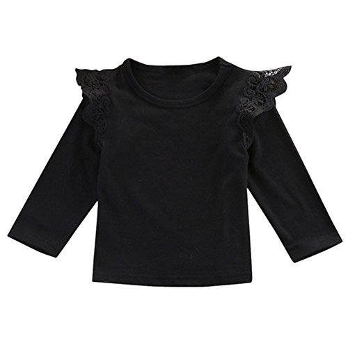 Brightup Bébé Fille Mignon T-shirt manches longues Chemisier Haut